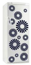 Sticker frigo Rosace. Décoration de frigidaire réalisée en vinyle adhésif avec découpe à la forme, à vous de choisir la couleur qui s\'accordera le mieux à votre intérieur de cuisine. Ce visuel original fera sensation dans votre intérieur.