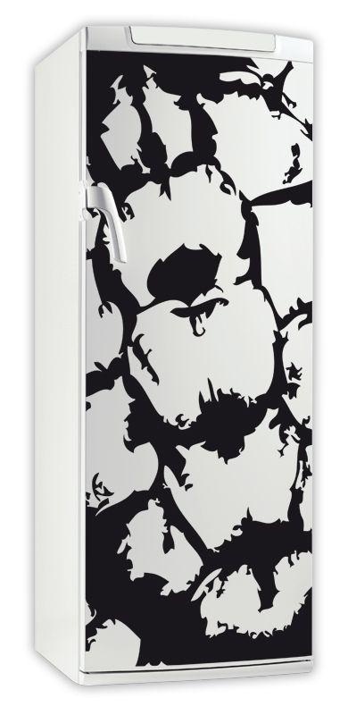 Sticker frigo tortue. Décoration de frigidaire réalisée en vinyle adhésif avec découpe à la forme. iDzif innove dans la personnalisation de votre cuisine avec une gamme de sticker sur le thème animal. Ce visuel donnera un côté aquatique à votre cuisine.