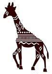 Sticker girafe d�coup�e � la forme dans vinyle de couleur unie.