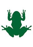 sticker grenouille découpé à la forme dans vinyle de couleur unie. A vous de choisir la taille et la couleur de votre sticker