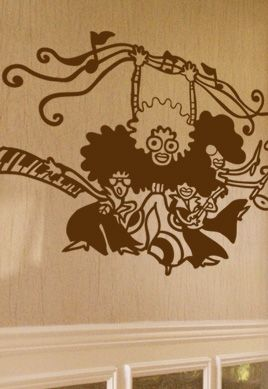 Sticker groupe musical afro jazz