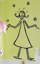 Sticker jongleuse