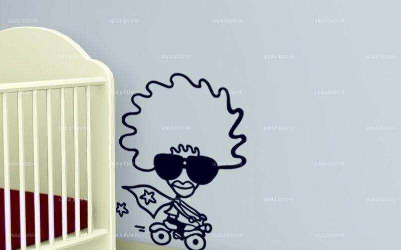 Sticker l\'afro et sa moto