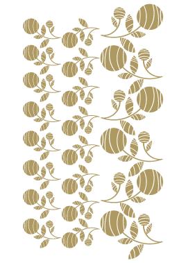Sticker les fleurs boule de feuilles