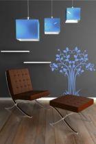 Sticker mural arbre Calista découpé à la forme dans vinyle de couleur unie.