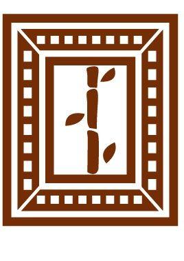 Sticker mural cadre bambou