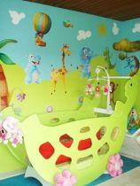 sticker mural enfant soleil
