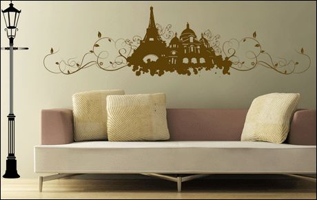 sticker mural lampadaire. Black Bedroom Furniture Sets. Home Design Ideas