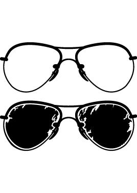 Sticker paire de lunette fashion rétro
