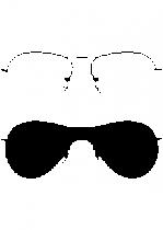 Sticker paire de lunette de Star. Visuel découpé dans un adhésif de couleur unie avec découpe à la forme. Ce visuel original trouvera sa place de choix dans votre intérieur.