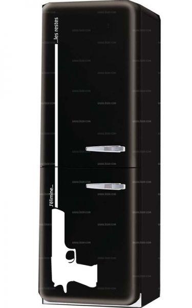 Sticker pistolet frigo pour décorer son électroménager