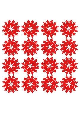 Stickers planche d\'étoiles de noel