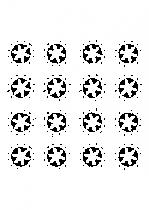 Sticker planche d\'étoiles