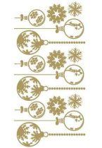 Sticker planche de noël découpée à la forme dans vinyle adhésif uni. Planche composé de boules de noël et de flocons de neige. Ces visuels habilleront de manières originales vos fenêtres.