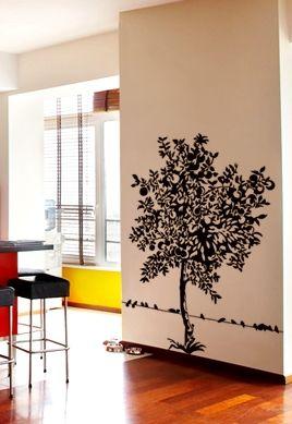 Sticker Pommier découpé à la forme dans vinyle de couleur unie. Idéal pour décorer votre intérieur.