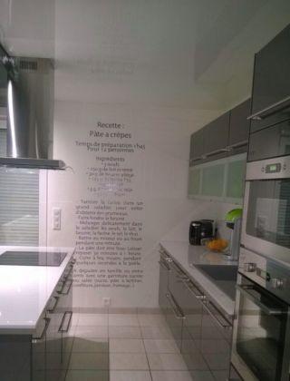 Pourquoi ne pas coller votre recette de cuisine préféré sur le mur afin de ne jamais l'oublier