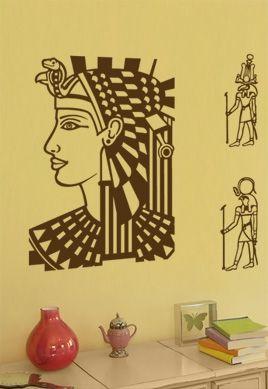 Sticker reine d\'Égypte.