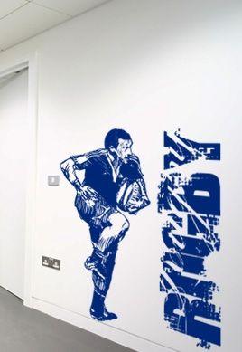 Stickers rugby idéal pour décorer le vestiaire de votre équipe favorite.