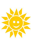 Sticker soleil qui rit