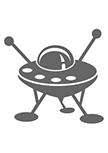 Sticker soucoupe volante : RG00480