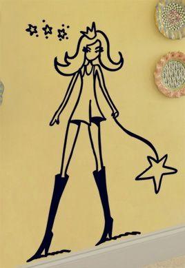 Sticker Stella, la chasseuse d\'étoile.