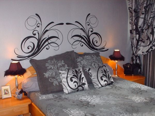 sticker t te de lit anglaise double. Black Bedroom Furniture Sets. Home Design Ideas
