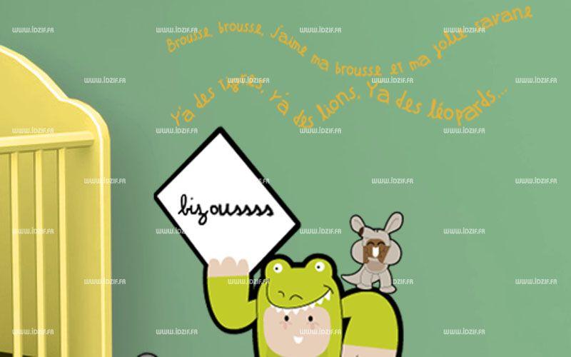 "Sticker texte \"" Brousse brousse...\"""