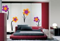 Stickers : ARTIAGA découpés à la forme dans vinyle de couleur unie. 15 Stickers fleurs.