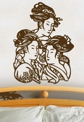 "Stickers ""Les 3 geisha\""."