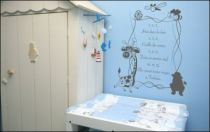 Le stickers 1 2 3 j\'irai dans les bois pour décorer une chambre d\'enfant