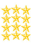Stickers 12 étoiles