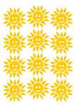 Stickers 12 sourires de soleils