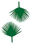 Stickers 2 Feuilles de Palmier