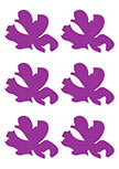 Stickers 6 Fleurs