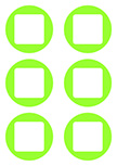 Stickers 6 Ronds et Carrés