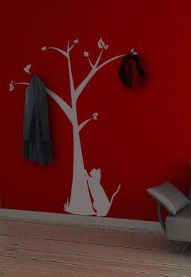 Stickers arbre portemanteau for Porte manteau arbre