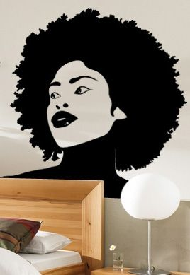 stickers afro femme
