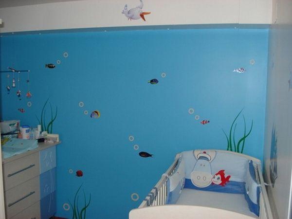 Stickers algues pour décorer en fond marins les murs de la chambre de votre enfant en vente sur Idzif.com