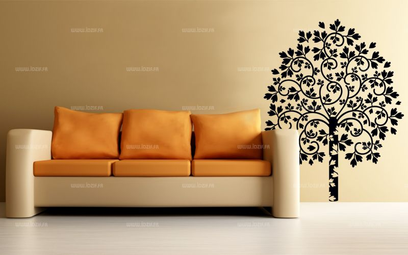 stickers arbre rayonnant. Black Bedroom Furniture Sets. Home Design Ideas