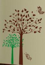 stickers arbre feuilles automne