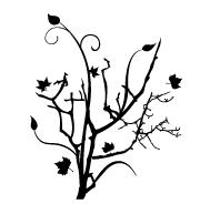 Le stickers arbre automne et feuilles en noir vous permettra d\'apporter la nature sur vos murs