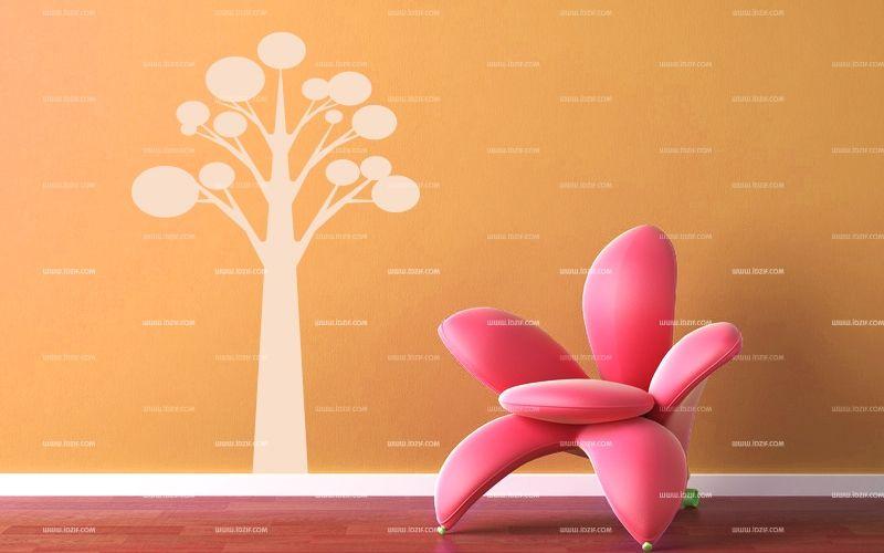 stickers muraux arbre moderne