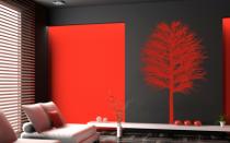 Le stickers arbre hivernal pour décorer l\'intérieur sur le thème de la nature