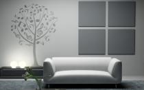 Le stickers arbre musique pour décorer l\'intérieur sur le thème de la nature