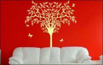 Le stickers arbre petites feuilles pour décorer l\'intérieur sur le thème de la nature