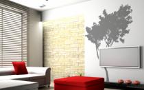 Le stickers arbre salon pour décorer l\'intérieur sur le thème de la nature