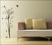 Le stickers arbuste automne pour décorer l\'intérieur sur le thème de la nature