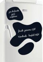 stickers ardoise. Tâches de vache. Grâce à cette planche de 6 stickers ardoises, vous allez pouvoir donner une seconde jeunesse à la décoration de votre frigo et occuper les enfants à dessiner avec une simple craie blanche, pendant la préparation de leurs plats préférés. Un coup d\'éponge et on recommence. Elle est pas belle la vache, euh la vie ....