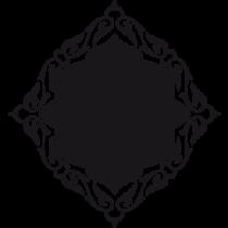 Stickers ardoise orientale avec motifs baroques