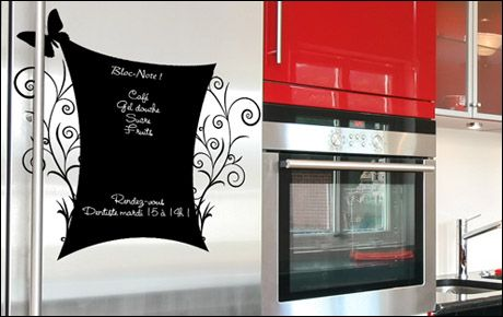 stickers ardoise pense b te cuisine. Black Bedroom Furniture Sets. Home Design Ideas